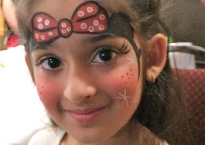 Mini mouse bow Facepaint