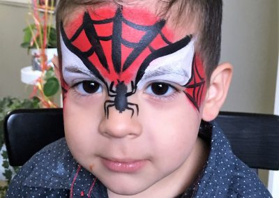 Spiderman facepaint 4
